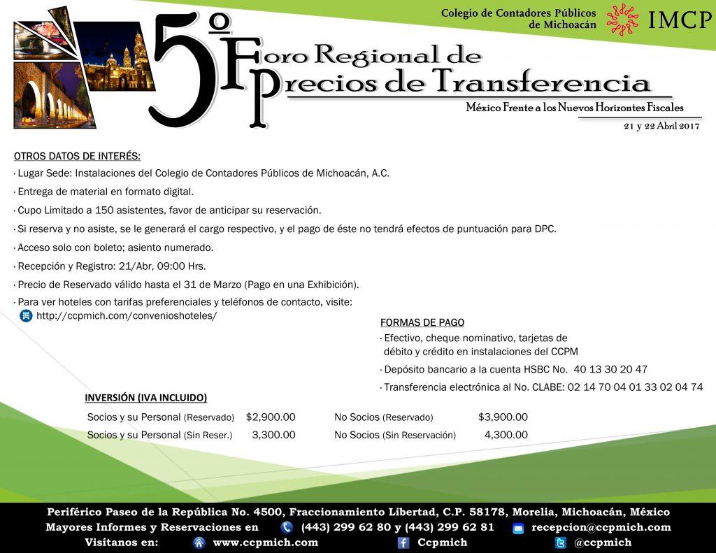 Foro Regional Precios Transferencia 2017 (Folleto Electrónico) 3