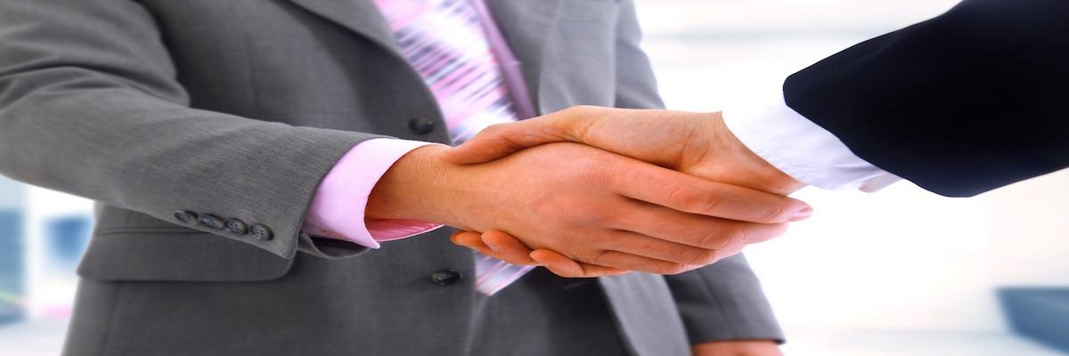 handshake isolated on white background