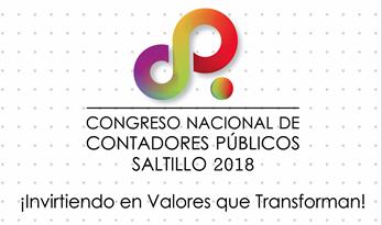 Congreso Nacional de Contadores Públicos Saltillo 2018. 30 y 31 de agosto