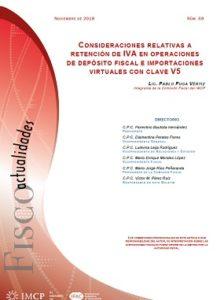 Fiscoactualidades 2018-68 Consideraciones Relativas a Retención de IVA en Operaciones de Depósito Fiscal e Importaciones Virtuales con Clave V5