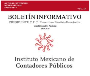 Boletín Informativo IMCP 1.0 (Oct-Nov-Dic 2018 – Enero 2019)