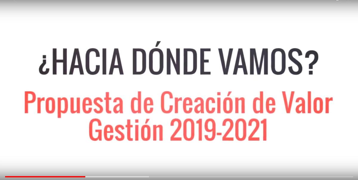 Propuesta de Creación de Valor Gestión 2019-2021. IMCP, creando valor más allá de los números.