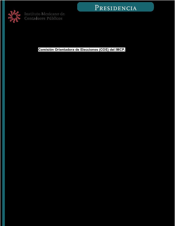 Folio 55.- Comisión Orientadora de Elecciones (COE) del IMCP