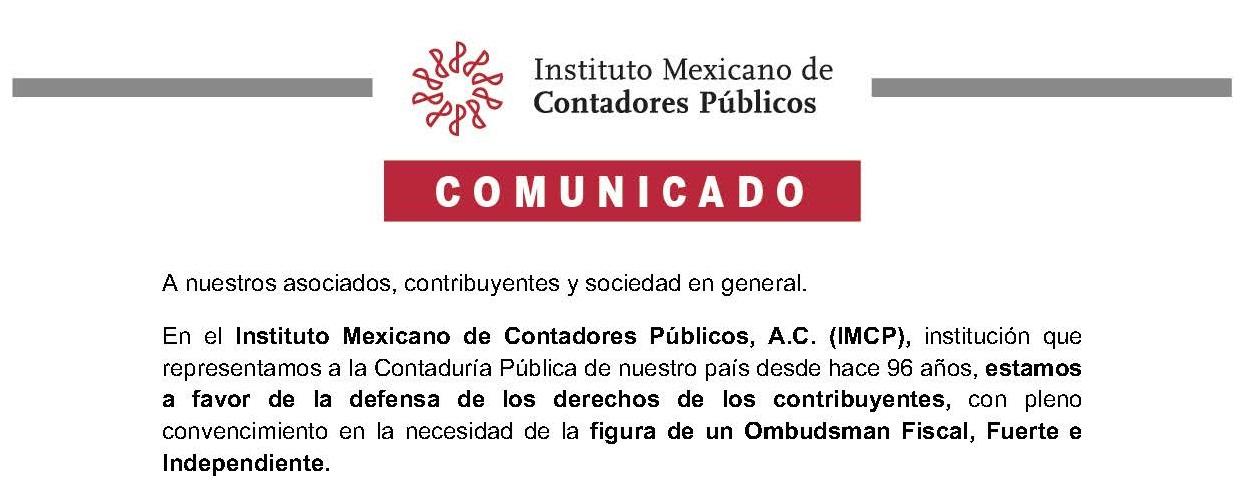 IMCP | Posición a recorte presupuestal de PRODECON.
