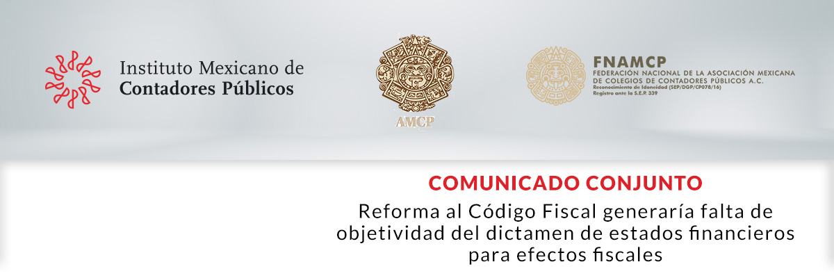 Comunicado Conjunto IMCP, AMCP, FNAMCP